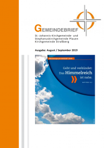 Gemeindebrief August/September 2019